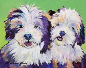 Pat Saunders-White Trophy Artist For 2014 Tibetan Terrier National Specialty Show